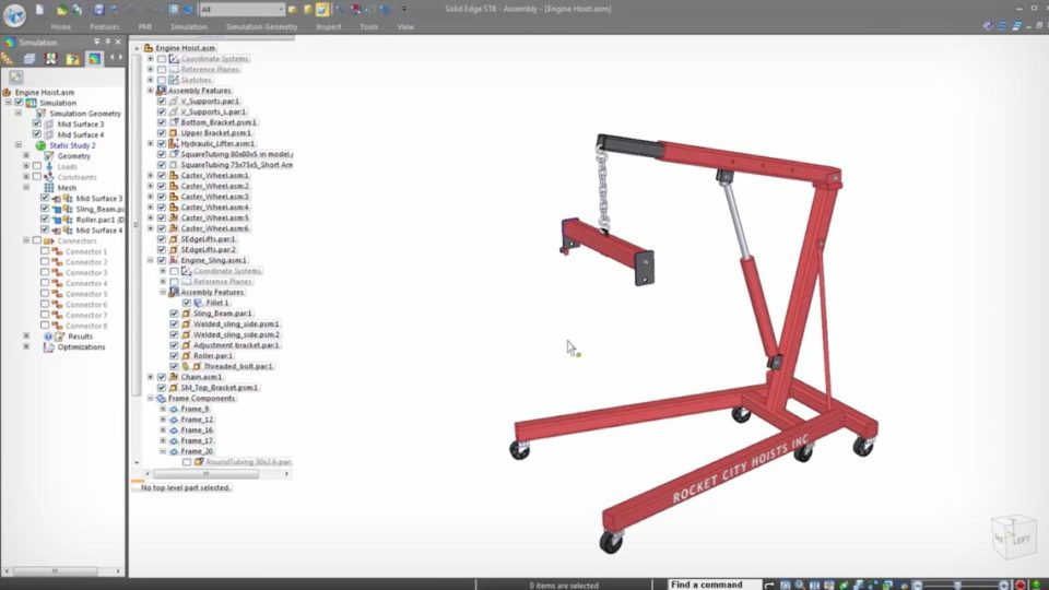 Simulation and Optimization of CAD Design