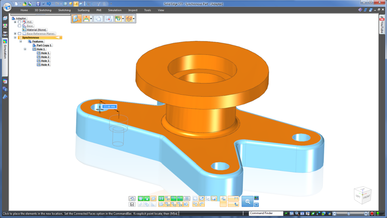 Multi-CAD Editing in Synchronous Technology