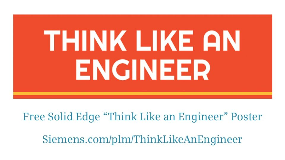 Think Like an Engineer Free Poster