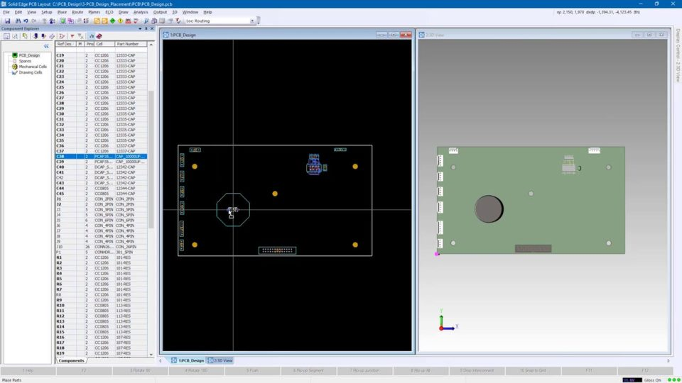 PCB Design in Solid Edge 2020